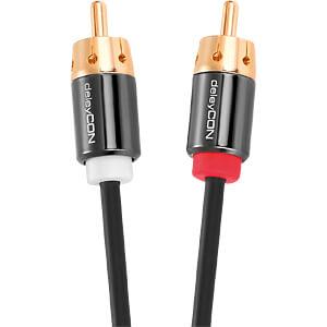 Audio Kabel, 3,5mm Klinken Buchse zu 2x Cinch Stecker DELEYCON MK-MK223