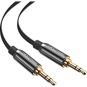Audio Kabel, 3,5 mm Stereo Klinkenstecker, Flachkabel, 1 m DELEYCON MK-MK963