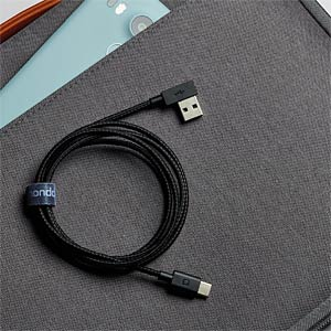 USB Kabel, A Stecker auf C Stecker, 1,2 m NONDA UC33BKRN