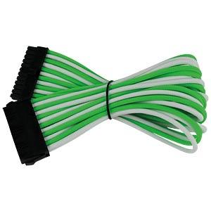 ATX-Verlängerung, 30 cm, Single, grün/weiß NANOXIA NX24V3EGW