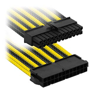 ATX-Verlängerung, 30 cm, Single, schwarz/gelb NANOXIA NX24V3ESG