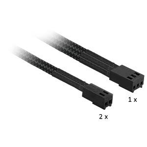 Nanoxia Adapter 3-Pin auf 2x 2-Pin, 30 cm, schwarz NANOXIA NX32A30