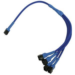 3-Pin auf 4 x 3-Pin Adapter, 30 cm, blau NANOXIA NX34A30B
