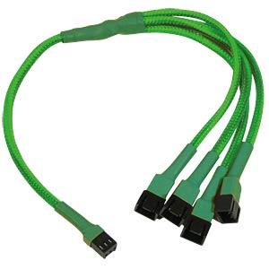 3-Pin auf 4 x 3-Pin Adapter, 30 cm, neon-grün NANOXIA NX34A30NG