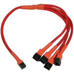 3-Pin auf 4 x 3-Pin Adapter, 30 cm, rot NANOXIA NX34A30R