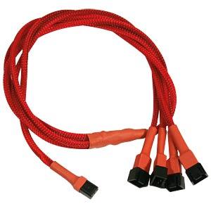 3-Pin auf 4 x 3-Pin Adapter, 60 cm, rot NANOXIA NX34A60R