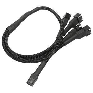 3-Pin auf 4 x 3-Pin Adapter, 60 cm, schwarz NANOXIA NX34A60