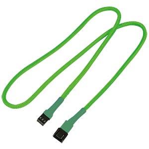 3-Pin Verlängerung, 60 cm, neon-grün NANOXIA NX3PV60NG