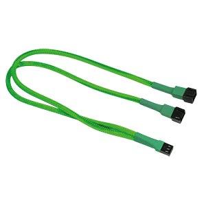 3-Pin Y-Kabel, 30 cm, neon-grün NANOXIA NX3PY30NG