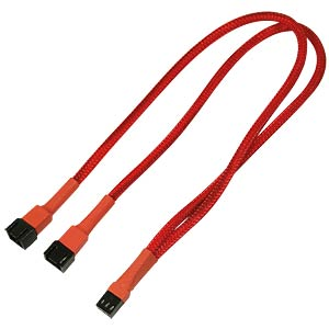 3-Pin Y-Kabel, 30 cm, rot NANOXIA NX3PY30R