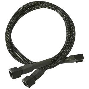 3-Pin Y-Kabel, 30 cm, schwarz NANOXIA NX3PY30