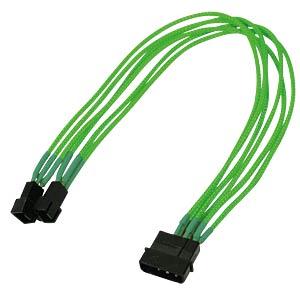 4-Pin auf 2x 3-Pin, Single, 30 cm, neon-grün NANOXIA NX42A30NG