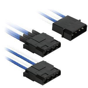 4-Pin auf 3x 4-Pin, 30 cm, blau/weiß NANOXIA NX43A30BW