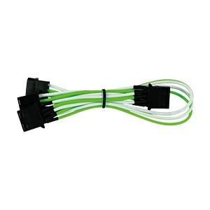 4-Pin auf 3x 4-Pin, 30 cm, grün/weiß NANOXIA NX43A30GW
