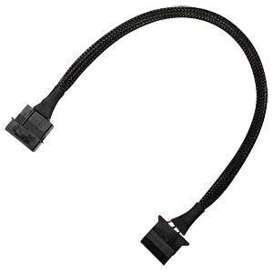 4-Pin Verlängerung, 30 cm, schwarz NANOXIA NX4PV30