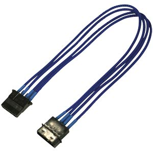 4-Pin Verlängerung, 30 cm, Single, blau NANOXIA NX4PV3EB