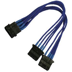 4-Pin Y-Kabel, 20 cm, Single, blau NANOXIA NX4PY2EB