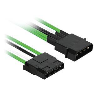 4-Pin Y-Kabel, 20 cm, Single, grün/weiß/schwarz NANOXIA NX4PY2EGWS