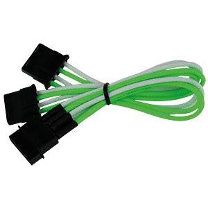 4-Pin Y-Kabel, 20 cm, Single, grün/weiß NANOXIA NX4PY2EGW