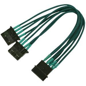 4-Pin Y-Kabel, 20 cm, Single, grün NANOXIA NX4PY2EG