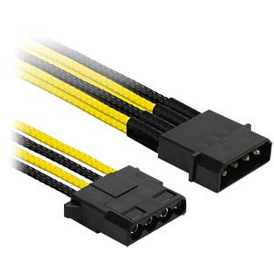 4-Pin Y-Kabel, 20 cm, Single, schwarz/gelb NANOXIA NX4PY2ESG