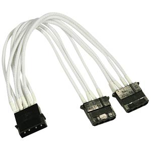 4-Pin Y-Kabel, 20 cm, Single, weiß NANOXIA NX4PY2EW
