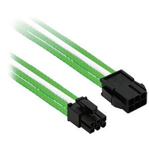 6er PCI-E Verlängerung, 30 cm, grün/weiß NANOXIA NX6PV3EGW