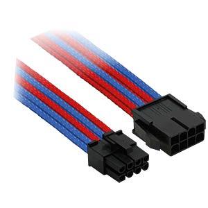 8er PCI-E Verlängerung, 30 cm, Single, blau/rot NANOXIA NX8PE3EBR