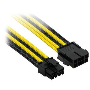 8er PCI-E Verlängerung, 30 cm, Single, schwarz/gelb NANOXIA NX8PE3ESG