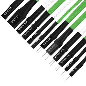 Frontpanel Verlängerungen, grün/weiß NANOXIA NXFPV3EGW