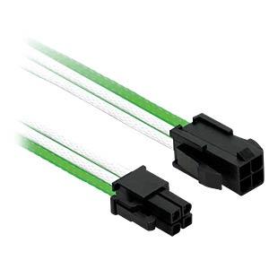 P4 Verlängerung, 30 cm, Single, grün/weiß NANOXIA NXP4V3EGW
