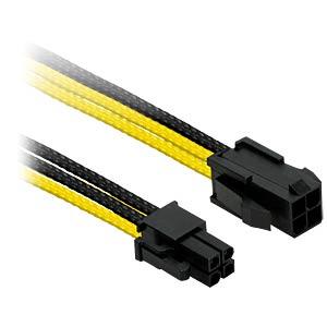 P4 Verlängerung, 30 cm, Single, schwarz/gelb NANOXIA NXP4V3ESG
