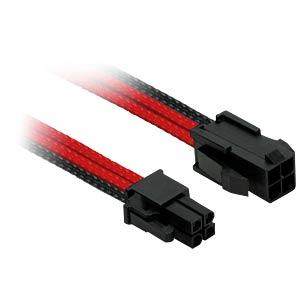 P4 Verlängerung, 30 cm, Single, schwarz/rot NANOXIA NXP4V3ESR