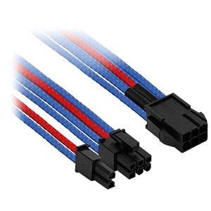 6- auf 6+2-Pin, 30 cm, blau/rot NANOXIA NXP683EBR