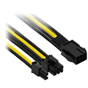 6- auf 6+2-Pin, 30 cm, schwarz/gelb NANOXIA NXP683ESG
