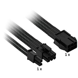 6- auf 6+2-Pin, 30 cm, schwarz NANOXIA NXP683E