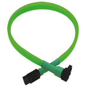 SATA 6Gb/s Kabel abgewinkelt, 30 cm, neon-grün NANOXIA NXS6G30NG