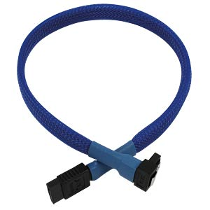 SATA 6Gb/s Kabel abgewinkelt, 30 cm, blau NANOXIA NXS6G3B