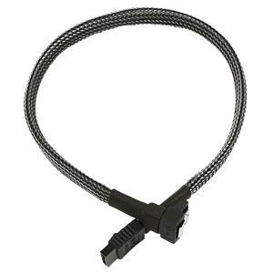SATA 6Gb/s Kabel abgewinkelt, 30 cm, carbon NANOXIA NXS6G3C