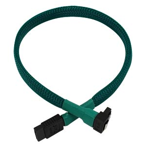 SATA 6Gb/s Kabel abgewinkelt, 30 cm, grün NANOXIA NXS6G3G