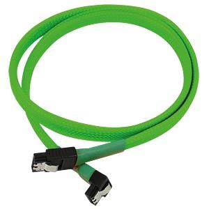 SATA 6Gb/s Kabel abgewinkelt, 60 cm, neon-grün NANOXIA NXS6G60NG