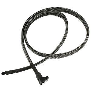 SATA 6Gb/s Kabel abgewinkelt, 60 cm, carbon NANOXIA NXS6G6C