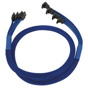 SATA 6Gb/s 4-fach Kabel abgewinkelt, blau NANOXIA NXS6GBL