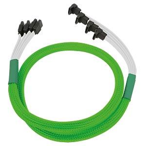 SATA 6Gb/s 4-fach Kabel abgewinkelt, neon-grün NANOXIA NXS6GSCNG