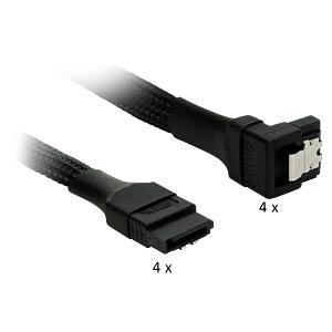 SATA 6Gb/s 4-fach Kabel abgewinkelt, schwarz NANOXIA NXS6GSC