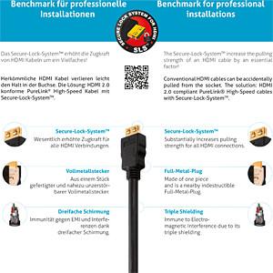 HDMI-Kabel 4K A-Stecker > A-Stecker, halogenfrei 5,0 m PURELINK PI1005-050