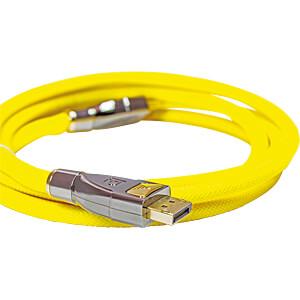DisplayPort Kabel, DisplayPort 1.2 Stecker, 10 m gelb PYTHON GC-M0182