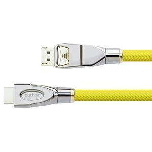 DisplayPort 1.2 Stecker auf HDMI Stecker, 3 m, gelb PYTHON GC-M0091