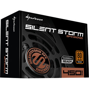 Sharkoon Silent Storm SFX 450 Watt SHARKOON 4044951016402