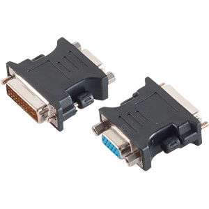 Adapter DVI-I Stecker 24+5 Dual-Link < VGA-Buchse SHIVERPEAKS BS77416